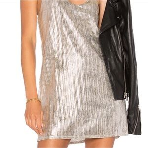 Amuse Society Silver Mini Dress